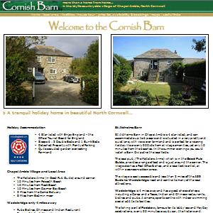 Website Design for Holiday Accomodation in North Cornwall.
