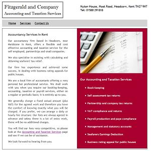 website design for Fitzgerald Accountants.