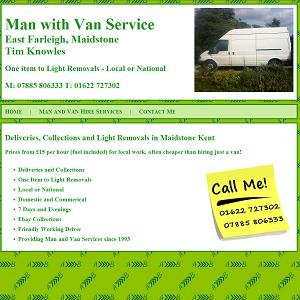 website design for maidstone man and van service